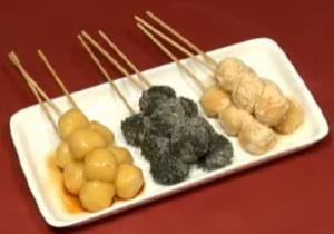 Japanese Skewered Tofu Dango