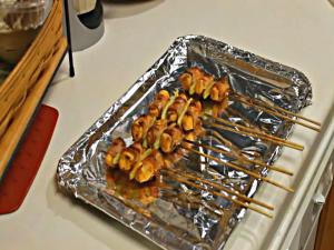 Bacon Wrapped Buffalo Chicken - Yakitori Style