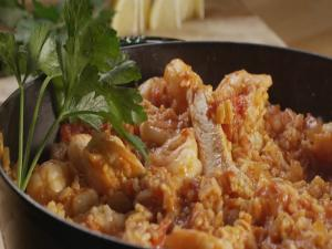 Chicken and Shrimp Spanish Rice