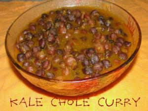 Kale Chole In Onion And Tomato Gravy
