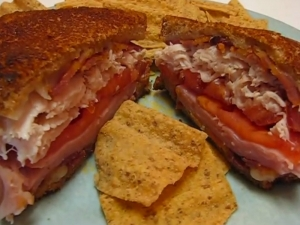 Betty's Inside-Out Hot Brown Sandwich
