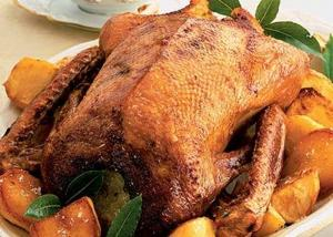 Goose With Apple Stuffing