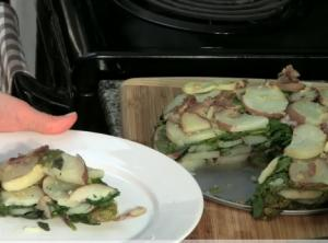 Low Fat Potato Spinach Cake