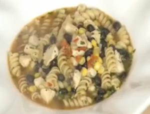 Southwestern Chicken Soup With Rotini