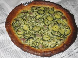 zucchini pie [Quiche]