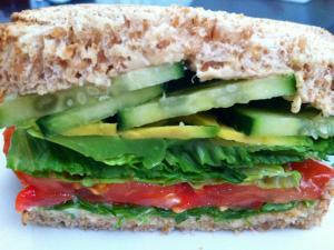 Avocado Hummus Veggie Sandwich