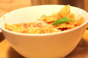 Farfalle with Vodka and Tomato Sauce