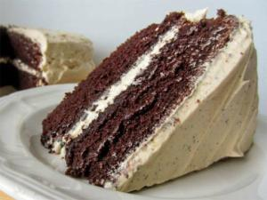 Mocha-Frosted Chocolate Cake