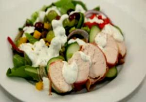 Roasted Turkey with Low Fat Yoghurt and Dill Dressing