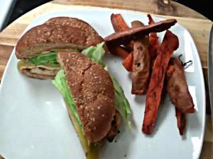 How to Make a Santa Fe chicken Sandwich - My Version of Carl Jr's Santa Fe Chicken Sandwich