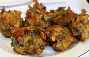 Minted Vegetable Fritters