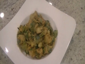 Potatoes Brussel Sprouts Masala - Indian Vegetarian