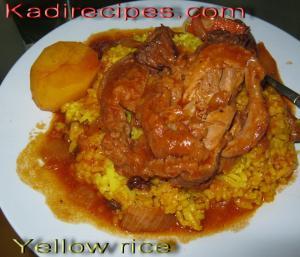 Yellow Rice with Raisins