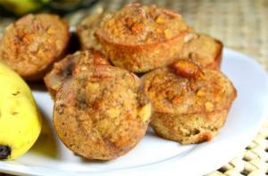 Mini Banana Date Nut Muffins
