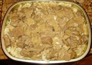 Beef Stroganoff With Mushroom And Tomato Sauce