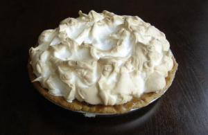 Lemon Meringue Pie Sweetened With Granulated Sugar
