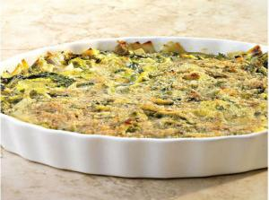 Escarole and Leek Gratin