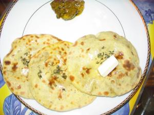 Tandoori stuffed aloo paratha by Chef Sonali