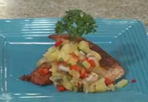 Salmon with Pineapple and Jalapeno Relish