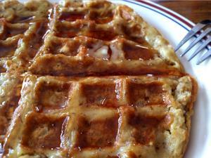 Waffle Iron Oatmeal Cookies