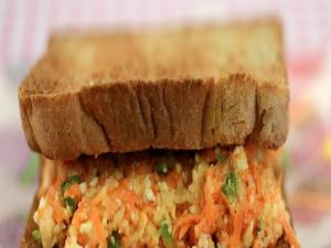 Carrot and Cheese Sandwich (Calcium and Vitamin A) by Tarla Dalal