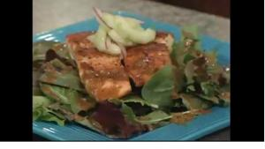 Salmon Salad with Sesame Sauce