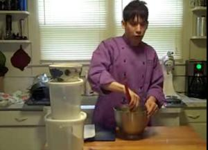 Peach Bellini Cocktail - Part 2: Making Almond Lace Cookie Dough