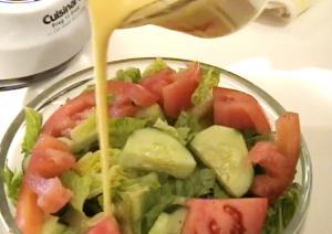 Lemon Vinaigrette Salad Dressing