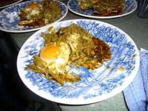 Bhida Per Eda ( Eggs On Lady Fingers )