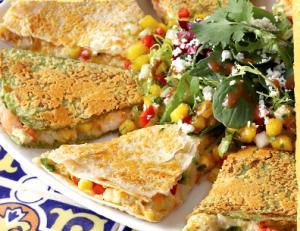 Corn and Crab Quesadillas