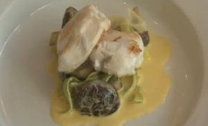 Pan-Fried Monkfish with Saffron Sauce