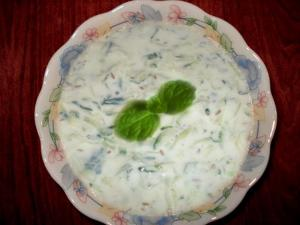 Quick Mint And Cucumber Raita