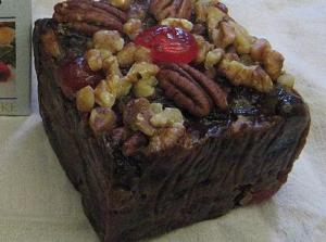 Fruit Cake with Honey Nut Topping