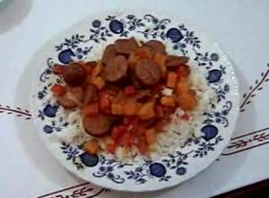 Sausage, Red Pepper and Sweet Potato Stir Fry