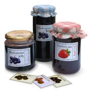 The attractive home made jam labels