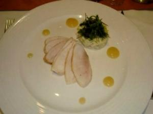 Australian Crocodile with Celeriac & Fennel Remoulade, and Pear & Onion Puree