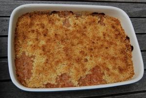 Sour Cream Rhubarb Squares