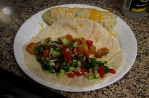 Fish And Salsa Taco