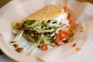 A gordita is a typical Mexican lunch dish.