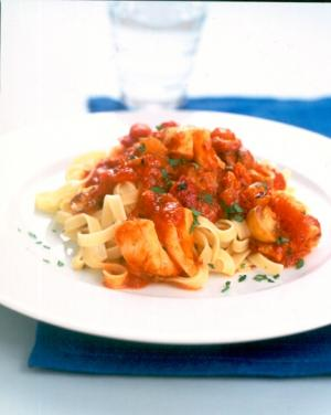 Quick and Easy Cod with Tagliatelle