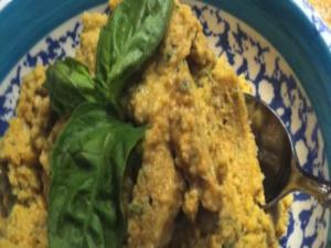 Hummus with Artichokes & Fresh Basil