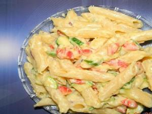 Salmon Pasta With Peppered Cream Sauce