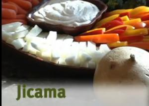 Raw Jicama with Delicious Dip