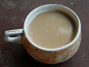 Sweet Hot Tea With Lemon Grass  Fresh Peppermint And Mint