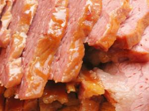 Kosher Corned Beef with Mandarin Sauce