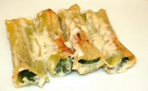 Spinach And Ricotta Cannelloni With Béchamel Sauce