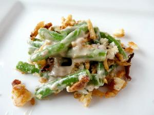 Green Bean Casserole with Bacon and Cheese