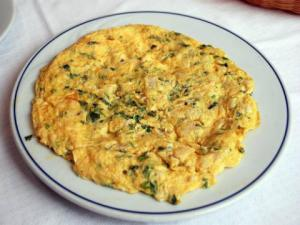 Cheese & Basil Omelette