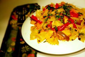 Stir Fry Seafood Pasta