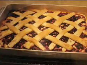Blueberry Lattice Cake